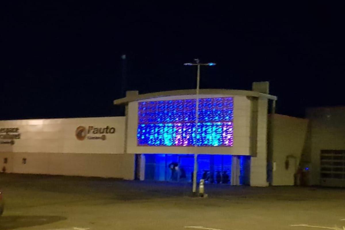 vue générale de l'éclairage de la façade