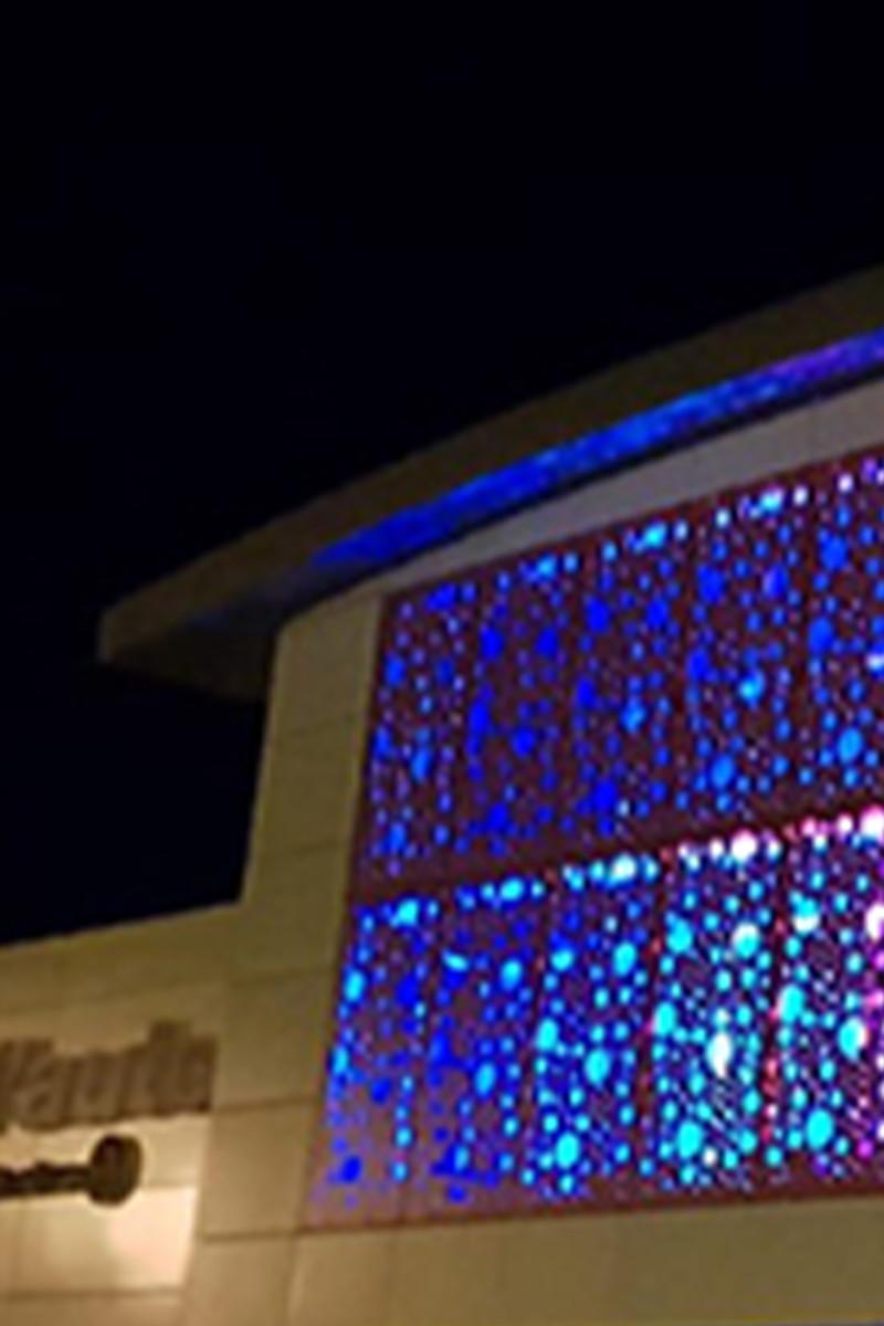 façade lumineuse décorative du bâtiment