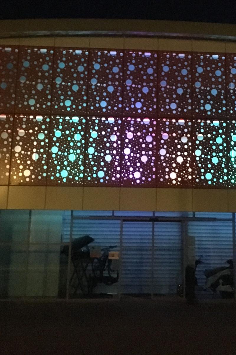 zoom sur l'éclairage LED de la façade